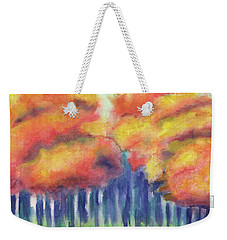 Weekender Tote Bag featuring the painting September 2018 by Betsy Hackett
