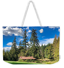 Weekender Tote Bag featuring the photograph September Skies by Brian Eberly