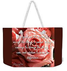 Serenity Prayer II Weekender Tote Bag