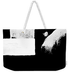 Seriously Black And White Weekender Tote Bag