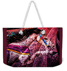 Weekender Tote Bag featuring the photograph Shades Of Antique Carousel by Michael Arend