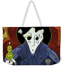 Weekender Tote Bag featuring the painting Shadow Priest by Sotuland Art