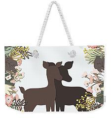 Shadowbox Deer Weekender Tote Bag