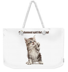 Weekender Tote Bag featuring the photograph Shakespurr Lady Macfluff by Warren Photographic