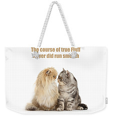 Weekender Tote Bag featuring the photograph Shakespurr Midsummer Cats Dream by Warren Photographic