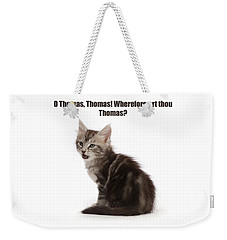 Weekender Tote Bag featuring the photograph Shakespurr Thomas And Juliet by Warren Photographic