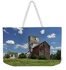 Weekender Tote Bag featuring the photograph Sharples Elevator by Brad Allen Fine Art