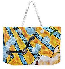 Shattered Skies Weekender Tote Bag