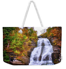Weekender Tote Bag featuring the photograph She-qua-ga - Montour Falls - Finger Lakes, New York by Lynn Bauer