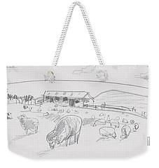 Sheep On Chatham Island, New Zealand Weekender Tote Bag