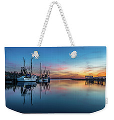 Shem Creek Blue Hour, Mt. Pleasant Sc Weekender Tote Bag