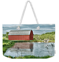 Shenandoah Red Barn Reflection Weekender Tote Bag
