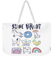 Shine Bright - Baby Room Nursery Art Poster Print Weekender Tote Bag