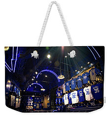 Weekender Tote Bag featuring the photograph Shine On Dodger Blue by Lynn Bauer