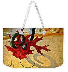 Weekender Tote Bag featuring the photograph  Shutter Dog Friends by Don Moore