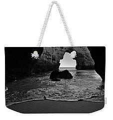 Silky Waves In Monochrome Weekender Tote Bag