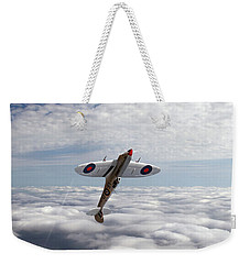 Weekender Tote Bag featuring the photograph Silver Spitfire - Slipping The Surly Bonds ... by Gary Eason