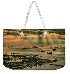 Singapore Harbour Weekender Tote Bag