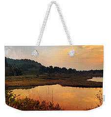 Weekender Tote Bag featuring the digital art Sitka Sedge Sand Lake Eve by Chriss Pagani