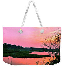 Weekender Tote Bag featuring the photograph Sitka Sedge Sunset by Chriss Pagani
