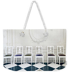 Weekender Tote Bag featuring the photograph Six Rodin Chairs by Craig J Satterlee