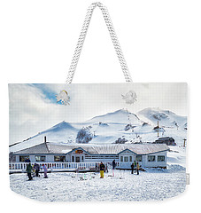 Weekender Tote Bag featuring the photograph Ski Center On Top Of The Bayo Hill by Eduardo Jose Accorinti