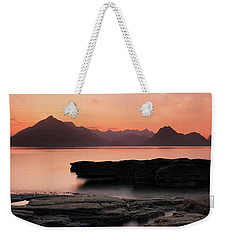 Weekender Tote Bag featuring the photograph Skye Sunset by Grant Glendinning
