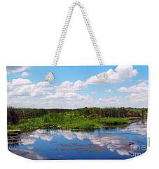 Skyscape Reflections Blue Cypress Marsh Near Vero Beach Florida C6 Weekender Tote Bag