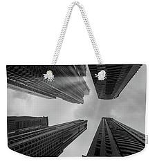 Skyscrapers Reach The Heaven Weekender Tote Bag