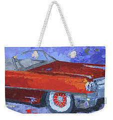 Slick Red Cadillac Weekender Tote Bag