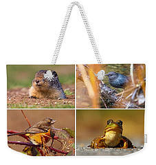 Small Animal Collage Weekender Tote Bag