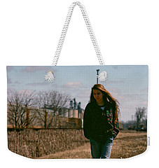 Weekender Tote Bag featuring the photograph Small Town Girl by Carl Young