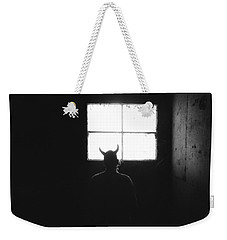 Weekender Tote Bag featuring the photograph Smoking Lounge by Carl Young