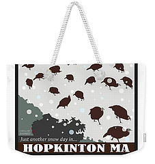 Snow Day In Hopkinton Weekender Tote Bag