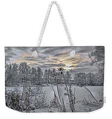 Snow #i3 Weekender Tote Bag