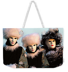 Weekender Tote Bag featuring the photograph Snowbirds With Hand Warmers by Donna Corless