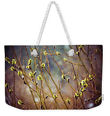 Snowfall On Budding Willows Weekender Tote Bag