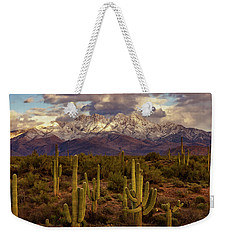 Weekender Tote Bag featuring the photograph Snowy Dreams by Rick Furmanek