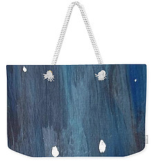 Weekender Tote Bag featuring the painting Snowy Night by Maria Langgle