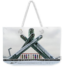 Snowy Olympic Cauldron Weekender Tote Bag