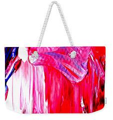 Soaring In Red Abstract Maha Weekender Tote Bag