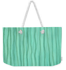 Soft Green Lines Weekender Tote Bag
