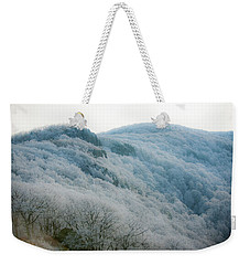 Soft Hoarfrost Weekender Tote Bag