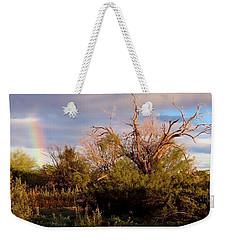 Sonoran Desert Spring Rainbow Weekender Tote Bag