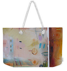 Weekender Tote Bag featuring the drawing Southwestern Vista by Camille Rendal