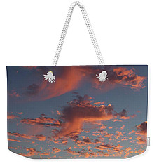 Space Needle And Pink Clouds Weekender Tote Bag