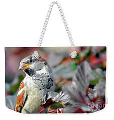 Sparrow Profile Weekender Tote Bag
