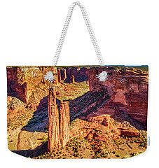 Weekender Tote Bag featuring the photograph Spider Rock by Andy Crawford