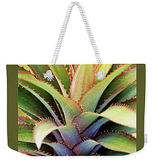 Weekender Tote Bag featuring the photograph Spiny Succulent I by Leda Robertson