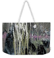 Weekender Tote Bag featuring the painting splash stripe II by John Jr Gholson